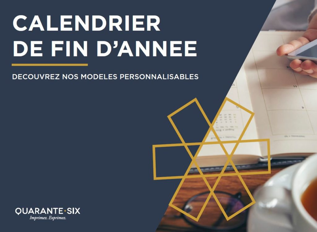 Calendriers - Créations exclusives By Quarante Six